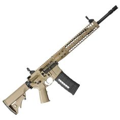 LWRC Six8 SPR AR-15 Semi Auto Rifle 6.8mm SPC 16 Barrel Gas Piston LWRC Flash Hider Modular Rail Compact Stock Skirmish Sights Flat Dark Earth SIX8RCK16SPR