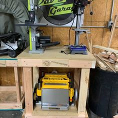Custom Workshop Tables - RYOBI Nation Projects Ryobi Table Saw, Ryobi Tools, Router Table, Drill Press, Table Height, Working Area, In The Heights, I Shop, Workshop