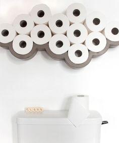 Un nuage design pour ranger son papier toilette.