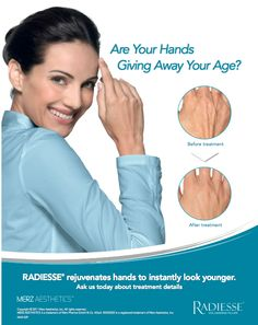 Don't let your hands give away your age. Smooth ad natural-looking results that last up to 1 year. Now approved! Ask us about it today 210-545-3327