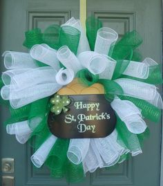 St Patrick's Day wreath by Zituska on Etsy, $70.00