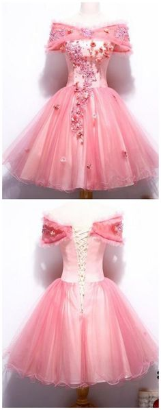 Prom Dresses Elegant, Pink Off Shoulder Lace Appliques Short A Line Homecoming Dresses, Mermaid prom dresses, two piece prom gowns, sequin prom dresses & you name it - our 2020 prom collection has everything you need! Sequin Prom Dresses, Homecoming Dresses, Evening Dresses, Party Dresses, Graduation Dresses, Prom Gowns, Occasion Dresses, Wedding Dresses, Short Dresses