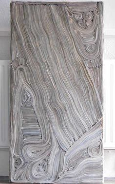 Tracey Falcon uses newspaper to create these really interesting pieces