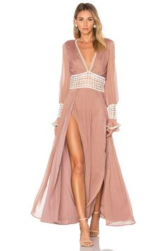 For Love & Lemons Celine Maxi Dress in Lavender | REVOLVE