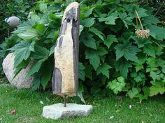 """Skulpturen - Treibholz Stele """"Pinguin"""" Unikat - ein Designerstück von Stein-Holz bei DaWanda"""
