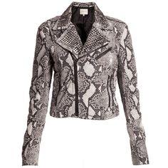 Pierre Balmain - Studded snake leather jacket - Cricket Fashion Boutique UK