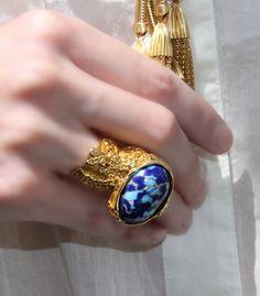 ♥ Pretty blue ring