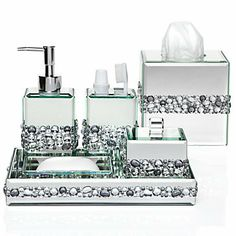 1000 images about home decor on pinterest bling for Bathroom accessories with bling