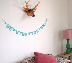DIY Word Banner - Turquoise van Buiten-de-Lijntjes via DaWanda