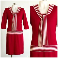 60s does 20s drop waisted sailor dress by TimeTravelFashions on Etsy