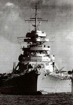 Bismarck clears port 5/18/41 at time largest German Battleship on it's 1st and last mission