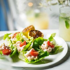 Heston's Prawn Cocktail with roasted lettuce and lemon