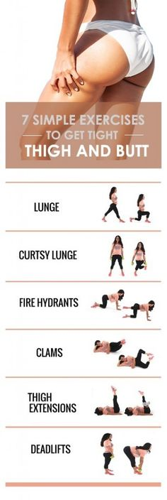 8 Simple Moves to Get Tight Thighs and Buttocks