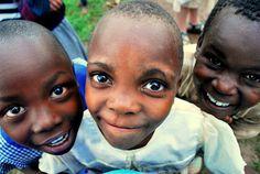 Ugandan children- Brenda in the center and Enoch to the right!