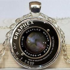 Vintage Camera Lens Pendant Necklace