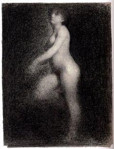 Georges Seurat, Nude, 1881-82 on ArtStack #georges-seurat #art