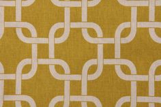 Premier Prints Gotcha Printed Cotton Drapery Fabric in Summerland Yellow/Natural…