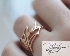 ♥ F L A S H ∙ S A L E ∙ 20% OFF ∙ L I M I T E D ∙ T I M E ∙ O N L Y ♥  ♥ Signature Ring ♥ The most unique jewelry you can find, perfect gift for you and your loved one. S I G N A T U R E ∙ R I N G  • Material: High Quality Solid 925 Sterling Silver • Finish: Sterling Silver ∙ 18K Gold ∙ Rose Gold • All our work is custom made by hand with Love and Care in our workshop ♥   H O W ∙ T O ∙ O R D E R • Simply use the -ASK A QUESTION- or -CONTACT SHOP OWNER- button to send us a picture or scan of…
