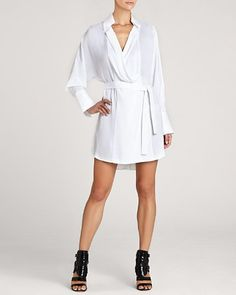 BCBGMAXAZRIA Shirt Dress - Diane Satin | Bloomingdale's