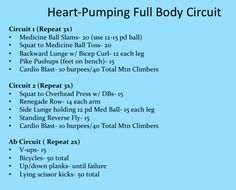 Full Body Strength and Cardio Circuit Workout