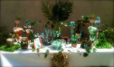 Welcome Lil Monkey Baby shower candy buffet.~Its like Candy!!!candybuffetbyCrystal~