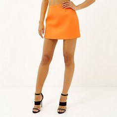 Orange textured mini skirt - £25 #riverisland