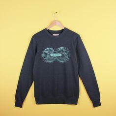 Elements world map ethical sweatshirt charcoal grey from Idioma Ltd