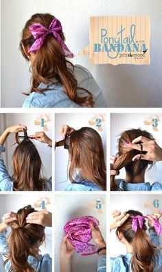 Make Ponytail With Bandana | hairstyles tutorial