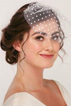 This sweet polka dot birdcage veil is the perfect choice for the vintage bride. Vintage Birdcage Veils, Bridal Hair Vine, Blusher, Wedding Hair Accessories, Bridal Headpieces, Irene, Hair Pins, Wedding Hairstyles, Retro Vintage