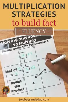 Students can master the multiplication facts with additional support from multiplication fluency strategies. These strategies include halving, doubling, adding a group, subtracting a group, squares and more. Discover and learn more about these strategies then download the FREE Guide to Multiplication Fluency. #twoboysandadad #multiplication Identity Property Of Multiplication, Distributive Property Of Multiplication, Properties Of Multiplication, Multiplication Activities, Multiplication And Division, Standards For Mathematical Practice, Mathematical Practices, Teaching Posters, Teaching Math