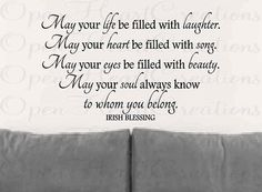 Wall Decals  Irish Blessing Vinyl Wall Quote by openheartcreations, $45.00