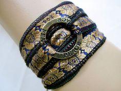 Wrap Bracelet Silk Wrap Bracelet Ribbon Yoga by RibbonsAndSilk