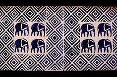 Elephant Pattern Tiles www.davidsanger.com