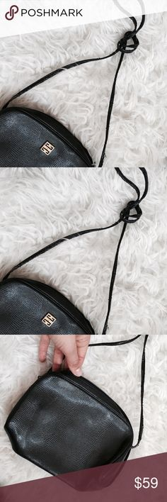 """Vintage Givenchy Shoulder Bag Super cute navy base  with gold front logo . Measures 6.25"""" x 8"""" x 3"""". Strap has wear as shown . No trades. Givenchy Bags Crossbody Bags"""