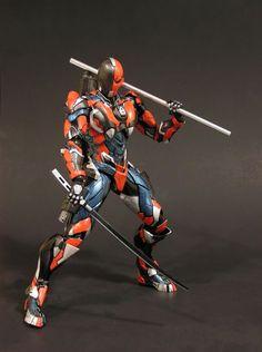 Deathstroke Play Arts Kai Variant (D.C. Universe) Custom Action Figure