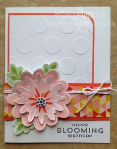 Michelle's Creative Journey - card inspiration from Sandy Mathis using Flower Patch Stamp set