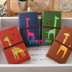 free shipping Korea stationery vintage cutout bandage double diary hard-face notepad pen