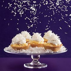 Coconut cream tarts. Great for a Christmas cookie or for a picnic in July.