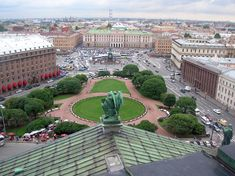 View of St. Isaac's Square and Mariinsky Palace from the dome of St. Isaac's Cathedral, in St Petersburg, Russia. View this on a Private St Petersburg Tour or Shore Excursion - Courtesy of Dancing Bear Tours - St Petersburg Tours & Baltic Tours - #StPetersburg #SaintPetersburg #Russia - http://dancing-bear-tours.com
