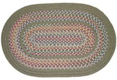 Tapestry Braided Rugs - Moss 3x5 Oval Braided Rug by Rhody Rugs. $79.99. Available in matching Chair Pads and Stair Treads!. Guaranteed to lie flat!. 80% Wool 20% Polypropylene. 3x5 Oval Braided Rug. Quality Crafted in New England. Tapestry Braided Rug Collection are one of the finest and most luxurious collections of braided rugs available. These rugs are crafted from 80% wool and 20% polypropylene, giving you the softness of wool underfoot with the added durabil...