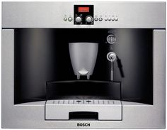 Bosch 24 Inch Benvenuto Built-in Coffee Machine with AromaSwirl Brewing System, Separate Pre-Ground Coffee Container, Removable Drip Tray and 14 oz. Fresh Bean Container, in Stainless Steel - Joel Rein - Built In Coffee Maker, Coffee Maker Reviews, Best Coffee Maker, Bosch Appliances, Small Appliances, Kitchen Appliances, Cofee Machine, Coffee Dispenser, Coffee Container