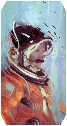 /by BradleyWright #art #astronaut