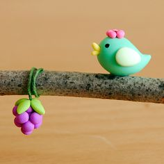 Blue birdie loves grapes by {JooJoo}