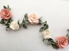 Baby Headbands, Nursery Garlands, and Cake Toppers by LynneandLee Paper Flowers Craft, Felt Flowers, Flower Crafts, Diy Flowers, Felted Wool Crafts, Yarn Crafts, Felt Crafts, Crafts To Make, Flower Mobile