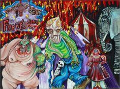 Wandbild von Laura Barbosa - Freak-Show - die finsteren Circus