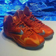 separation shoes 89ebf 74dd8 Newest Lebron Nike LeBron 11 Atomic Orange Metallic Silver 616175 800