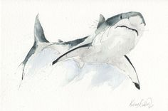 Buy The Great White, Watercolour by Kelsey Emblow on Artfinder. Discover thousands of other original paintings, prints, sculptures and photography from independent artists.