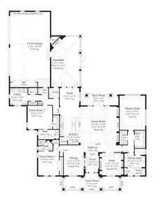 Ranch style house plan 4 beds 2 baths 3200 sq ft plan for 3200 sq ft ranch house plans