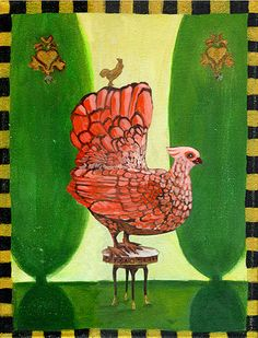 Meet the Cafe Truffle hen posing on a silk cushion chair in the heart of the French countryside! The perfect addition to a new baby's nursery or country kitchen! Royal Chicken, Chicken Brands, Chicken Art, Unique Image, Paper Decorations, Art Reproductions, Truffles, Original Artwork, New Baby Products