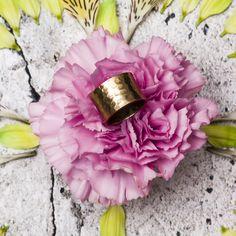 Omega Hammered Ring in Brass  #saraswati #rings #flower #mandalas  http://saraswatimoon.myshopify.com/search?q=omega+&search-button.x=0&search-button.y=0